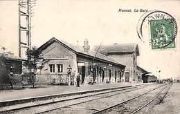 Hannut - La Gare (animée, Edit. Papeterie Dubois) - Hannut