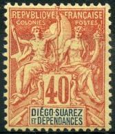 Diego Suarez (1892) N 34 * (charniere) - Unused Stamps