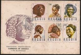 Cover FDC 1987 Angola - Penteados Tradicionais De Angola - Cancel Luanda - Traditional Hairstyles Of Angola - Angola