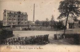 Fléron - Le Moulin à Vapeur Et La Gare (animée, Précurseur, Edit. H. Thône-David) - Fléron
