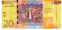 Samoa P.40a 20  Tala 2008 Unc - Samoa