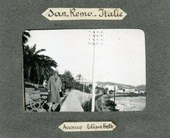 ITALIE - Photo De SAN REMO, Avenue Elisabeth -  1928 - Lieux
