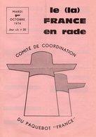 PAQUEBOT FRANCE Journal De Gréve Du 1 OCTOBRE 1974 - Vieux Papiers