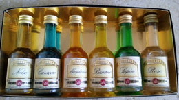 Liqueur Louis Blanzey - Mignonettes (6) Noix Curaçao Mandarine Banane Rose Sapin - Les Distillateurs Réunies Fougerolles - Spiritus