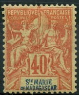 Sainte Marie De Madagascar (1894) N 10 * (charniere) - Unused Stamps