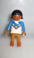 PLAYMOBIL  3871 Indian Girl Blue/cream Dress VINTAGE - Playmobil