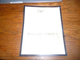 Lettre De Mort Jules Debroux Grand Hallet 1878 Momignies 1953 - Obituary Notices