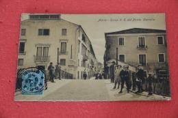 Adria Rovigo Corso V.E. Dal Ponte Castello 1908 Animatissima Bellissima +++++++ - Italia