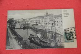 Adria Rovigo Panorama Del Canal Bianco  1908 Foto Irradiator - Italia