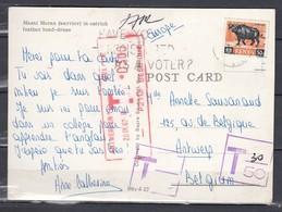 Postkaart Van Kenya Met Getakseerd In Belgie Antwerpen 1 - Kenya (1963-...)