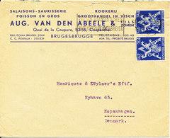 Belgium Cover Sent To Denmark Brugge 28-3-1946 - Belgien