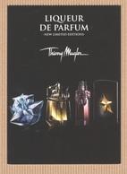CC Carte Parfumée 'MUGLER' 'LIQUEUR DE PARFUM' 'NEW LIMITED EDITIONS' Perfume Card PROMO 15 X 10.5 Cm - Modern (from 1961)