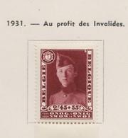 BELGIQUE 1930:   Page 18, Neufs* Et Obltérés,  TTB ! - Used Stamps