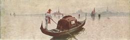 """868 """" VENEZIA - GONDOLA  """"  MINI-CARTOLINA ILLUSTRATA ORIG   NON SPED - Venezia"""