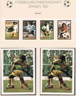 Soccer Football Bhutan #766/9B + Bl 87/8B Imperf 1982 World Cup Spain MNH ** - World Cup