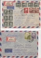 GERMANY - DEUTSCHLAND - 2 Vf REGISTERED COVERS - From HAMBURG To LA PAZ, URUGUAY - BRD