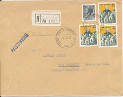 Italy Registered Cover Sent To Germany Spiazzo 5-3-1973 - 6. 1946-.. Republic