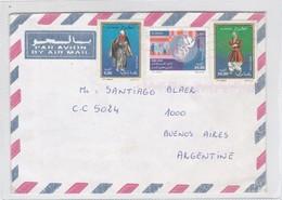 SOBRE ENVELOPE AIRMAIL CIRCULEE ALGERIE TO ARGENTINE CIRCA 2000.- BLEUP - Algerije (1962-...)