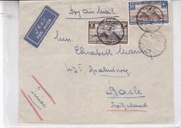 SOBRE ENVELOPE PAR AVION CIRCULEE EGYPTE TO SUISSE CIRCA 1936.- BLEUP - Egypte