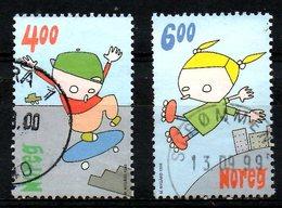 NORVEGE. N°1282-3 Oblitérés De 1999. Planche à Roulettes/Roller En Ligne. - Skateboard