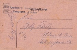 Feldpostkarte - K.k. Landsturm Eisenbahn Sicherungs Kompagnie Opina  - 1917 (36068) - 1850-1918 Imperium