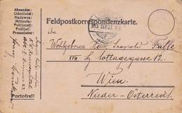 Feldpostkarte - K.k. Reservespital Losonc - Mit Bleistiftzeichnung - 1915 (36069) - Briefe U. Dokumente