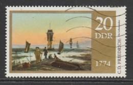 Germany DDR 1974 Paintings - The 200th Anniversary Of Caspar David Friedrich 20 Pfg Multicoloured SW 1701 O Used - [6] République Démocratique