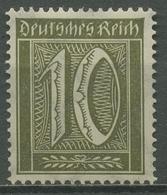 Deutsches Reich 1921 Ziffer WZ 2 Waffeln 178 Mit Falz - Ungebraucht