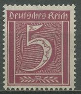 Deutsches Reich 1921 Ziffer WZ 2 Waffeln 177 Postfrisch - Ungebraucht