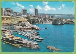 CPSM  BEIRUT Modern  New Raouche Quartier Pigeons Rocks LIBAN - Lebanon