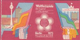 DDR, Markenheftchen MH 7 2, Postfrisch **, Weltfestspiele Der Jugend 1973 - Markenheftchen