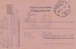 Feldpostbrief - K.k. 5. AK Graz Nach Wien - 1916 (36078) - Briefe U. Dokumente
