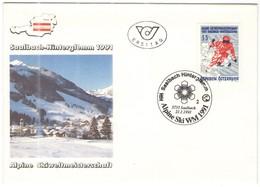 AUSTRIA - ÖSTERREICH - AUTRICHE - 1991 - S5 Alpine Ski WM - Saalbach Hinterglemm - Saalbach - FDC - FDC