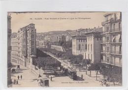 ALGER. RUES MICHELET ET CHARRAS ET LIGUE DE L'ENSEIGNEMENT, TRAMWAY. A.L EDIT. CIRCA 1900's. ALGERIA- BLEUP - Alger
