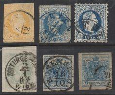 R055- AUSTRIA - 1850-1880. MI#: 35 // 43.  USED. - 1850-1918 Imperium