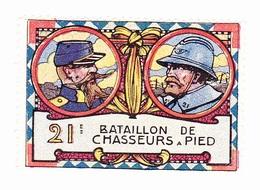 Vignette Militaire Delandre - 21ème Bataillon De Chasseurs à Pied - Erinnophilie
