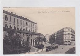 ALGER. LYCEE NATIONAL ET AVENUE DE BAB EL OUED. TRAMWAY. A L EDIT. CIRCA 1900's. ALGERIA- BLEUP - Alger