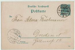 (026..958) Reichspostkarte 1893, Erfurt, Dresden - Ganzsachen