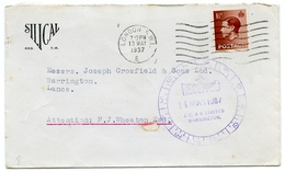 PRE-PRINTED ENVELOPE : SILICAL WATER SOFTENERS, SOUTHAMPTON ST, LONDON / ADDRESS - JOSEPH CROSFIELD, WARRINGTON, 1937 - London Suburbs