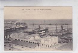 ALGER. LE PORT ET LES BUREAUX DE LA DOUANE. A L EDIT. CIRCA 1900's. ALGERIA- BLEUP - Alger