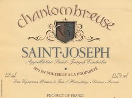 Cotes Du Rhone : SAINT-JOSEPH : Chantombreuse : 26 Tain-l'hermitage   ( Pas De Frais Paypal ) - Côtes Du Rhône