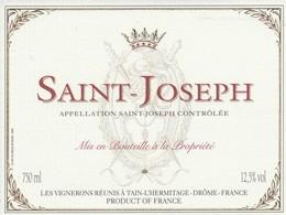 Cotes Du Rhone : SAINT-JOSEPH : 26 Tain-l'hermitage   ( Pas De Frais Paypal ) - Côtes Du Rhône