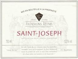 Cotes Du Rhone : SAINT-JOSEPH : ( L'ame Du Vin Ch. Baudelaire ) 26 Tain-l'hermitage   ( Pas De Frais Paypal ) - Côtes Du Rhône