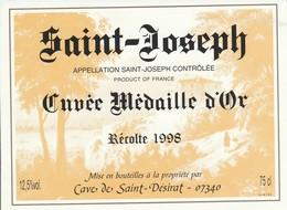 Cotes Du Rhone : SAINT-JOSEPH : ( Cuvée Médaille D'or 1998 ) 07 Saint-désirat ( Pas De Frais Paypal ) - Côtes Du Rhône