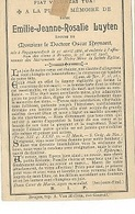 DEV43/ ° Begijnendijk 1866 + BRUGGE 1903 EMILIE LUYTEN - Religion & Esotérisme