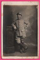 Cp Photo - Militaire - Militaria - Militaire De La 54e - Voir Casque !!! - Portrait - Moustache - Militaria