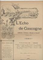 L'Echo De Gascogne,Bordeaux, Agen, Arène Pailleron,Guary,félibrige, Illustrateur Godefroy1890, - Books, Magazines, Comics