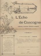 L'Echo De Gascogne,Bordeaux, Agen, Anatole France,Karr,Esparbès, R. De Pell, Chanson Des Gueux,1890, - Books, Magazines, Comics