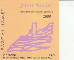 Cotes Du Rhone : SAINT-JOSEPH : 2000 - Pascal Jamet - 07 Arras ( Pas De Frais Paypal ) - Côtes Du Rhône