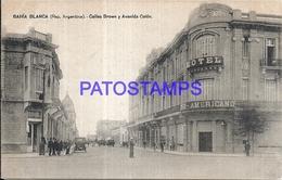 97869 ARGENTINA BAHIA BLANCA BS AS STREET CALLES BROWN & AVENIDA COLON POSTAL POSTCARD - Argentina